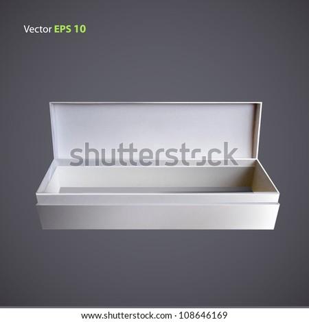 White box. Vector design.