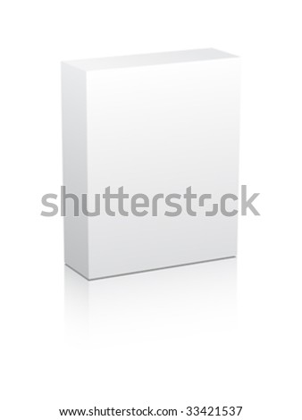 white box vector illustration