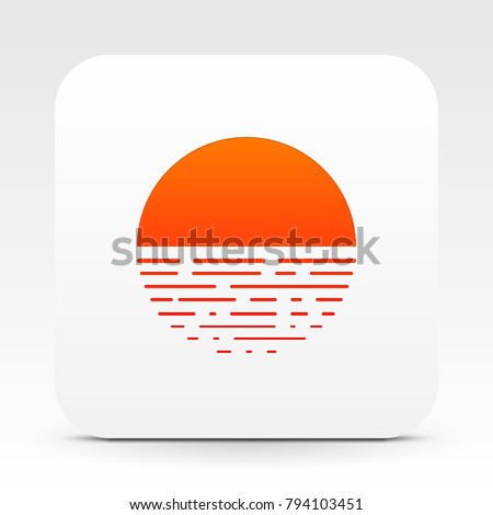 white box with sunset icon