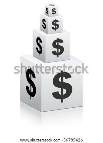 white boxes with dollar sign on it