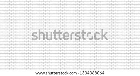 White brick wall, light grey brick wall, brick wall background, white brick wall background, Vector illustration