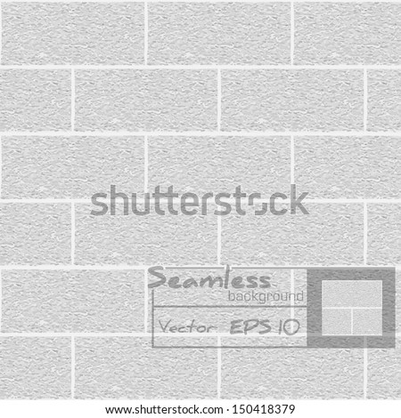 White brick wall. Seamless pattern.