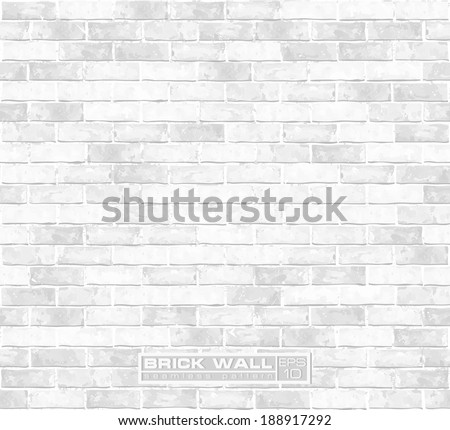 White brick wall seamless vector pattern