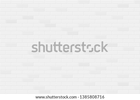 White brick wall texture seamless geometric pattern of bricks