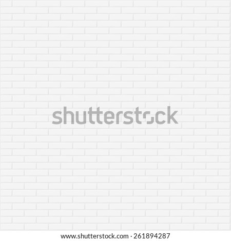 White brick wall vector background.