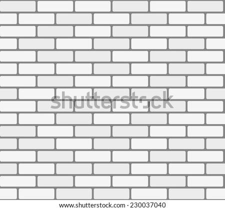 White brick wall. Vector, seamless texture