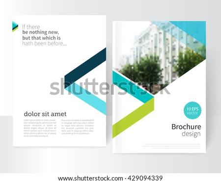 white brochure  leaflet  flyer