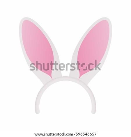 white bunny ears