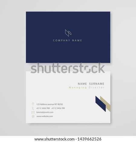 white business card flat design template vector Foto stock ©