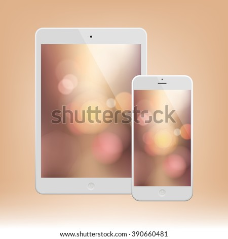white business phone and tablet