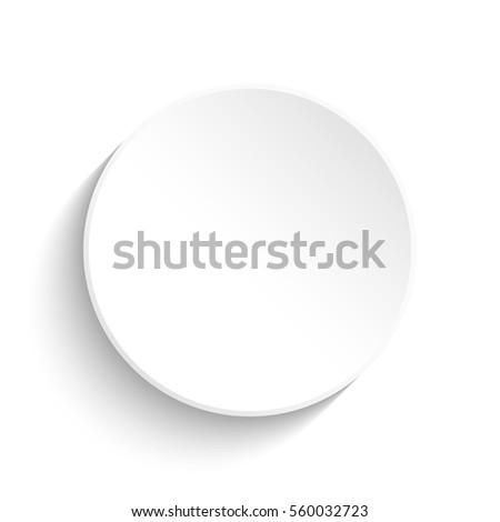 White button on white background
