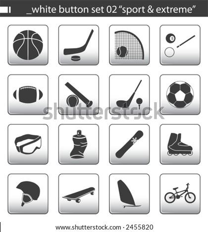 """white button set 02 """"sport & extreme"""""""