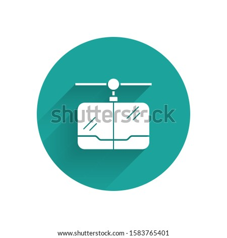 white cable car icon isolated