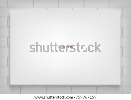 Blank canvases on brick wall - Download Free Vector Art, Stock ...