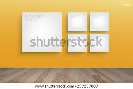 white canvas frame on yellow