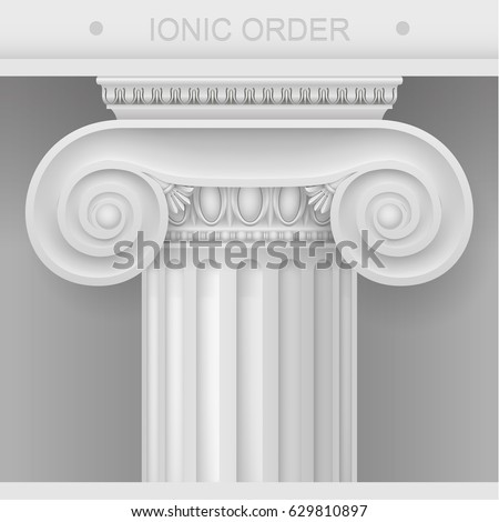 white capital of the ionic...