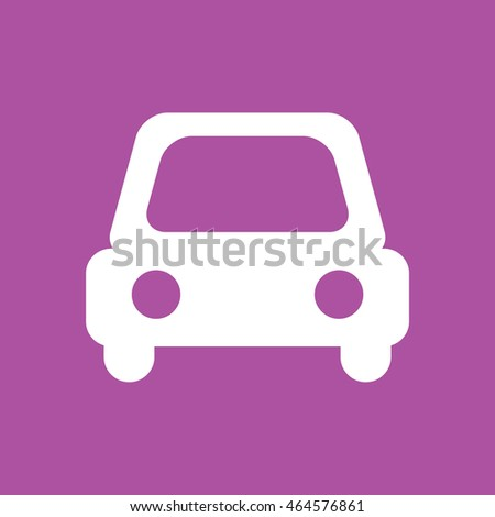 white car icon vector purple