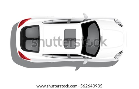 white car on white background