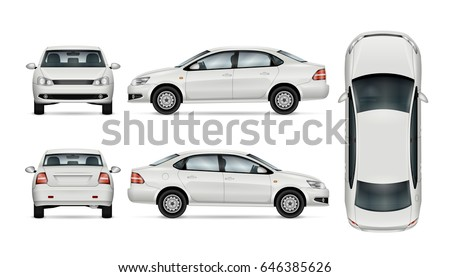 white car template for car