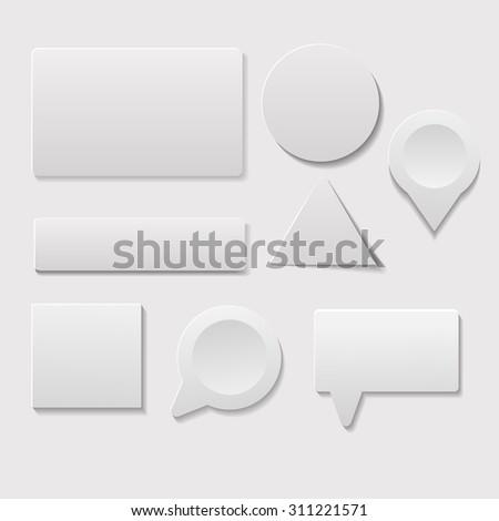 White card eps10 vector set #311221571