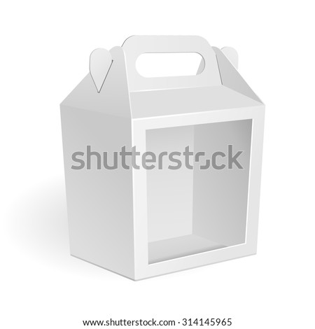 Royalty-free White Cardboard Fast Food Box,… #117962359 Stock Photo ...
