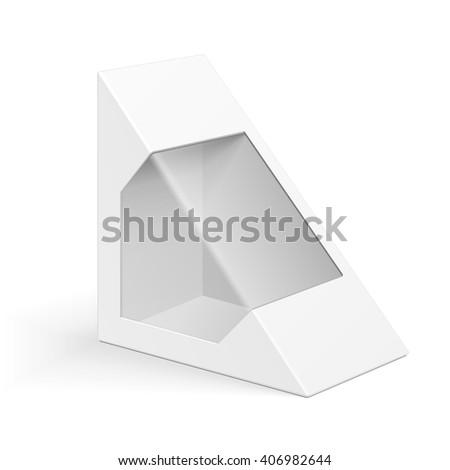 white cardboard triangle box
