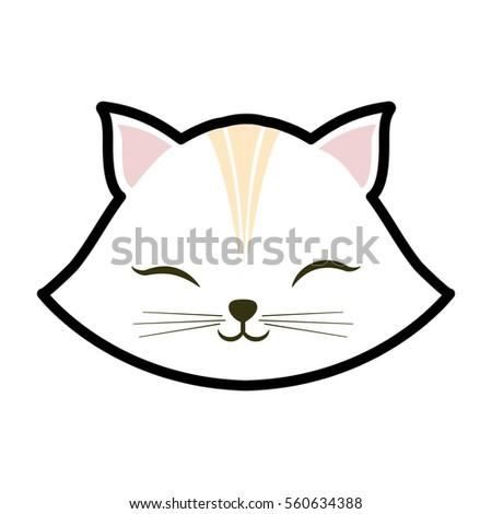 white cat kitty closed eyes