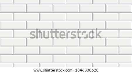 White ceramic brick tile wall. white tiles background. White ceramic tile wall background