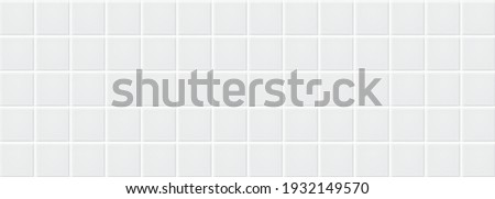 White ceramic tiles texture abstract background vector Stockfoto ©