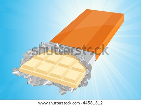 White chocolate, vector illustration