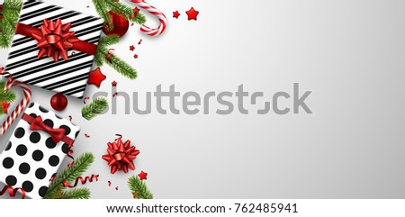 white christmas background with