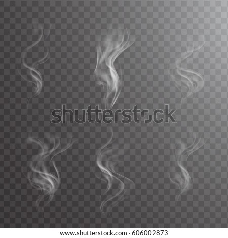 white cigarette smoke waves on