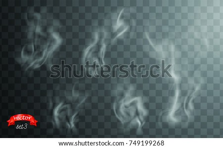 white cigarette smoke waves