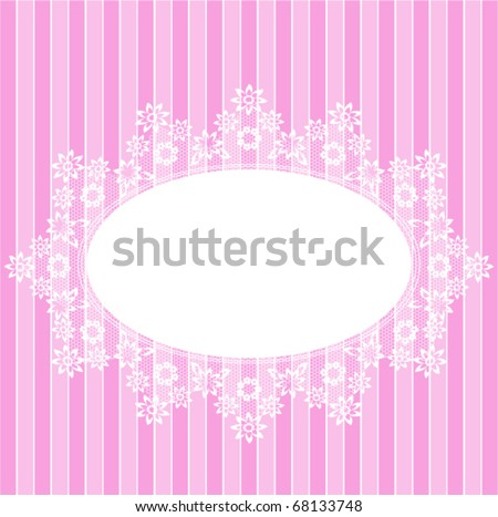 White circle lace pink card