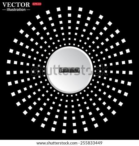 white circle on a black