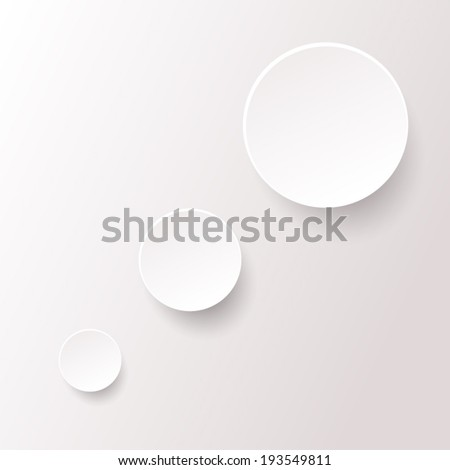 white circle paper pattern with drop shadow background (vector)