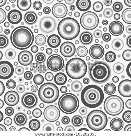 White circles seamless pattern