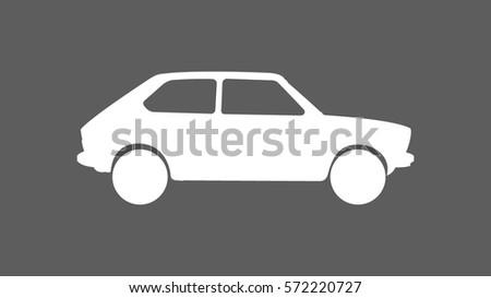 white classic hatch back car