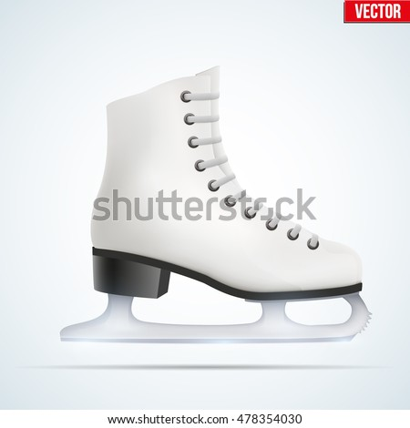 white classic ice figure skates
