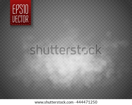 white cloud or smoke isolated
