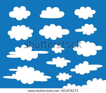 white cloud vector