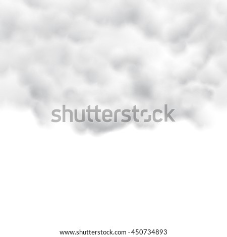 white clouds on white background