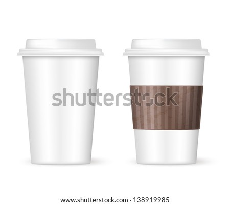 white coffee to go two cups