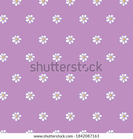 white color daisy patterns on