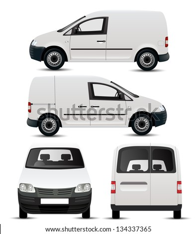 White Commercial Vehicle - Van