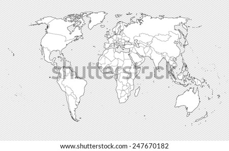 White outline world map vector download free vector art stock white contour world map on gray background border countries vector illustration gumiabroncs Images