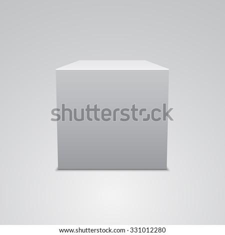 White cube. Vector illustration.
