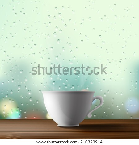 white cup on the background of
