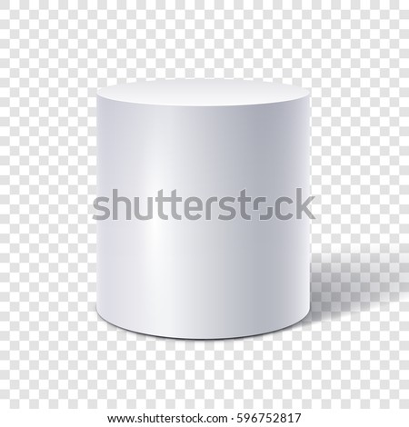 White cylinder isolated on transparent background Stock photo ©
