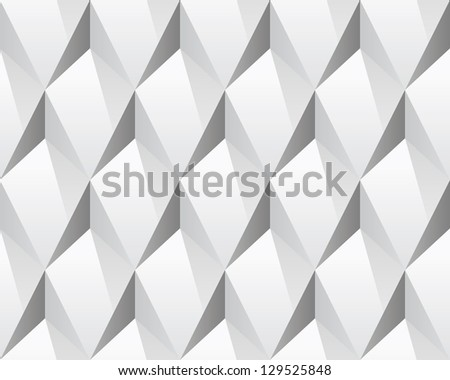 stock vector white d abstract seamless texture vector modern concept pattern rhombus bright background 129525848 - Каталог — Фотообои «3D Текстуры»